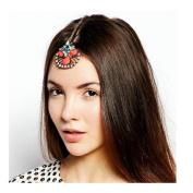 Joyci 1 Pcs Colourful Gem Hair Chain Clips Forehead Chain Wedding Prom Jewellery