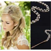 Joyci 1 Pcs Bohemia Chic Pearl Hair Pin Clip Tassel Chain Clip Barrettes Headpiece