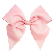 Victory Bows Large 18cm Light Pink Hair Bow made with 7.6cm Grosgrain Ribbon- The Anna-Made in USA Pony Tail Band