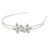 Women's Crystal Rhinestone Flower-shape Headband Hair Band Headwrap for Wedding Party Prom