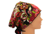 Surgical Scrub Hat Chef Nurse Chemo Cap European Pixie Pink Lime Black Floral