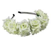 Beautiful Women Lady Girl's Festival Wedding Floral Rose Flower Crown Headband Hairband Bridal Wreath Garland