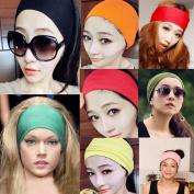 Women Wide Yoga Headband Strech Hairband Elastic Hair Bands Headband Turban for Sports Exercise