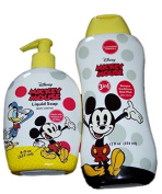 Disney Mickey Mouse 3 in 1 Shampoo, Conditioner & Body Wash with Liquid Hand Soap Berry Scented