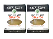 Chagrin Valley Soap & Salve - Organic Natural Shampoo Bar - Honey Beer & Egg 2X Pack