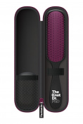 The Knot Dr. PhD Hybrid Styler Slim Paddle Brush with EVA Hard Case and Kleen Hair Remover, Ebony Handle with Cabernet Brush Face