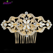 SEP Women Hairpins Gold Rhinestone Crystals Hair Combs Bridal Wedding Hair Accessories Jewellery FA5044GOL