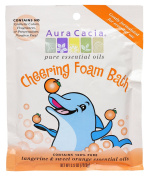 Aura Cacia Aromatherapy Foam Bath, Cheering with Tangerine and Sweet Orange, 70ml packet