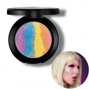 Travelmall Rainbow Highlighter eyeshadow Makeup Palette Powder Makeup Rainbow Cake , 6 colours in 1