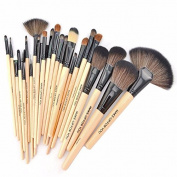 Aoohe 24pcs Professional Cosmetic Makeup Brush Set with Bag