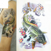 Arm Leg 3D Carp Graphic Waterproof Temporary Tattoo Body Art Stickers Removable