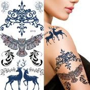 Supperb® Temporary Tattoos - Owl & Reindeer