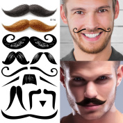 Supperb® Temporary Tattoos - Moustache Set