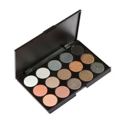 BTArtbox 1 pcs 15 Colour Women Cosmetic Makeup Neutral Nudes Warm Shimmer and Matte Eyeshadow Palette Set
