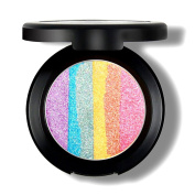 Etouji 6 Colours Rainbow Eyeshadow Highlighter Powder Makeup Cosmetic Shimmer Eye Shadow Palette Blusher, Regular