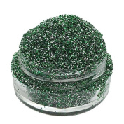 Lumikki Cosmetics Glitter Eye/Face/Lips/Nails Makeup - Green & Silver Glitter - REPTILE - Super Pigmented & Rich Colour! - Cruelty Free - Professional Quality - 5G Volume/2.5G Weight Jar