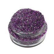 Lumikki Cosmetics Glitter Eye/Face/Lips/Nails Makeup - Purple & Silver Glitter - Holographic - PURPLE STARDUST - Super Pigmented & Rich Colour! - Cruelty Free - 5G Volume/2.5G Weight Jar