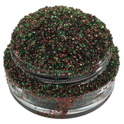 Lumikki Cosmetics Glitter Eye/Face/Lips/Nails Makeup - Green & Red - Holographic - TINSEL - Super Pigmented & Rich Colour! - Cruelty Free - Professional Quality - 5G Volume/2.5G Weight Jar