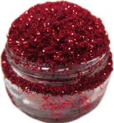 Lumikki Cosmetics Glitter Eye/Face/Lips/Nails Makeup - Ruby Red Glitter - RED RIDING HOOD - Super Pigmented & Rich Colour! - Cruelty Free - 5G Volume/2.5G Weight Jar