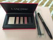 Colour Design Eye Shadow Palette(French Kiss)+Le Crayon Khol+Dual Ended Makeup Brush by Lan'c0m