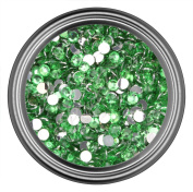 Light Green Resin Rhinestones in 2mm 3mm 4mm 5mm 6mm for Flatback Nail Art Cabochon Diy Decoration and Craft