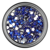 Dark Blue Resin Rhinestones in 2mm 3mm 4mm 5mm 6mm for Flatback Nail Art Cabochon Diy Decoration and Craft
