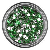 Dark Green Resin Rhinestones in 2mm 3mm 4mm 5mm 6mm for Flatback Nail Art Cabochon Diy Decoration and Craft