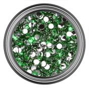 Dark Green Resin Rhinestones in 2mm 3mm 4mm 5mm 6mm for Flatback Nail Art Cabochon Diy Decoration and Craft
