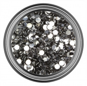 Grey Resin Rhinestones in 2mm 3mm 4mm 5mm 6mm for Flatback Nail Art Cabochon Diy Decoration and Craft