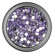 Light Purple Resin Rhinestones in 2mm 3mm 4mm 5mm 6mm for Flatback Nail Art Cabochon Diy Decoration and Craft