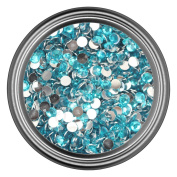 Teal Resin Rhinestones in 2mm 3mm 4mm 5mm 6mm for Flatback Nail Art Cabochon Diy Decoration and Craft