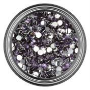 Dark Purple Resin Rhinestones in 2mm 3mm 4mm 5mm 6mm for Flatback Nail Art Cabochon Diy Decoration and Craft