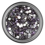 Dark Purple Resin Rhinestones in 2mm 3mm 4mm 5mm 6mm for Flatback Nail Art Cabochon Diy Decoration and Craft