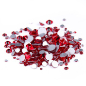 Nizi Jewellery Light Siam Colour Rhinestones For Nails Mixed Sizes About 1000pcs