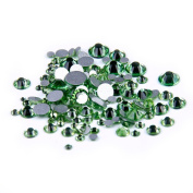 Nizi Jewellery Peridot Colour Rhinestones For Nails Mixed Sizes About 1000pcs