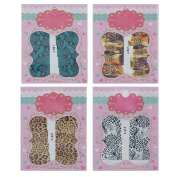 4 Packs Manicure Tips Water Transfer Decals Sticker For Nail Art Decoration