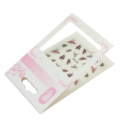 1 Sheet Women Lady 3D Butterfly Water Transfer Nail Art Sticker Decor DIY Tip