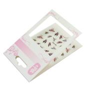 1 Sheet Women Lady 3D Butterfly Water Transfer Nail Art Sticker Decor DIY Tip