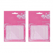 2pcs White 3D Lace Nail Sticker Finger Decal Art Design HomeHL202