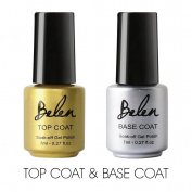 Belen Soak Off UV LED Gel Polish Nail Art Manicure Lacquer Top Base Coat 2PCS 7ml