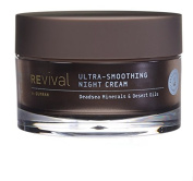 Revival ultra smoothing best anti ageing night cream. A night cream made from minerals of the Dead Sea. Goes on smooth and is non-greasy. 100% Made in Israel, add this night cream to your cart today.