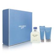 [Bella Bella Boutique] Light Blué Men Gift Set Eau De Toilette Spray 120ml EDT Spray + 45ml After Shave Balm + 50ml Gel