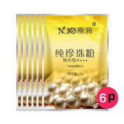 Pearl Powder Mask Acnes Remover & Whitening & Moisturising & Oil Balancing, 5G X 6 Sheets