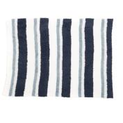 Barefoot Dreams Multi Stripe Stroller Blanket 80cm x 100cm , White/Dusk/Blue/Marine