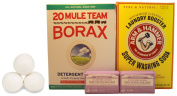 Laundry Soap Kit For DIY Concentrated Laundry Detergent with Borax, Washing Soda, &