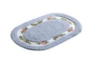 Licheng Oval-shaped Microfiber Rose Flower Bath Area Rugs