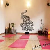 MairGwall Elephant Wall Stickers Yoga Vinyl Boho Wall Decal Home Bedding Decor Nursery Wall Mural