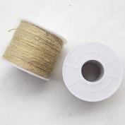1Roll (100M)Twisted Burlap Jute Twine Rope Natural Hemp Linen Cord String
