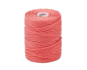 C-Lon Tex 400 Heavy Weight Bead Cord, Chinese Coral - 1.0mm, 39 Yard Spool