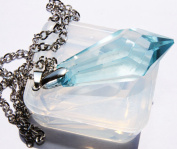 Clear silicone crystal pendants,earrings Moulds, pendant size 51mmX23mm. Handmade item.